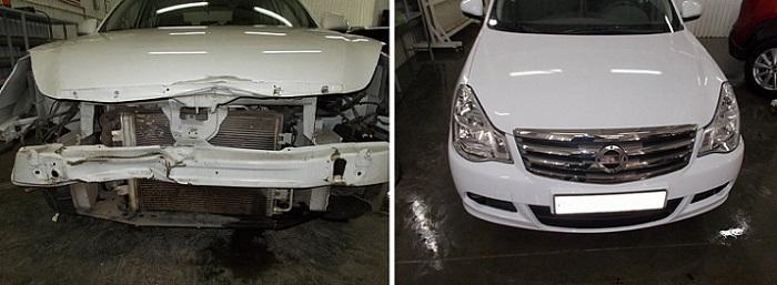 Восстановление кузова и стапель Nissan Almera недорого