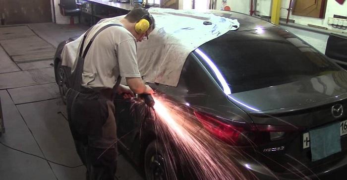 Кузовной ремонт и восстановление геометрии Mazda 3
