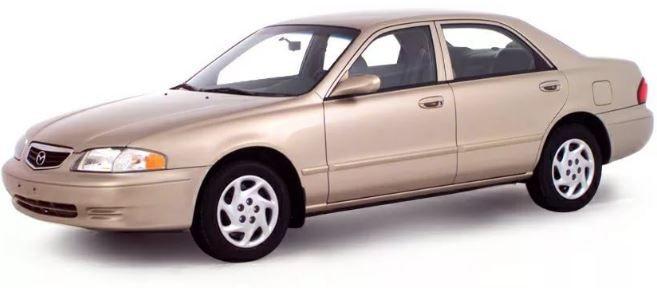 Ремонт кузова и восстановление геометрии Mazda 626