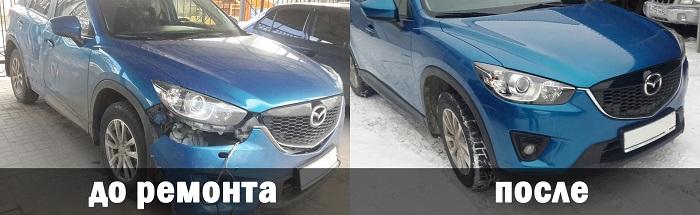 Восстановление геометрии кузова стапелем Mazda CX-5