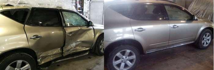 Восстановление кузова стапелем Nissan Murano автосервис