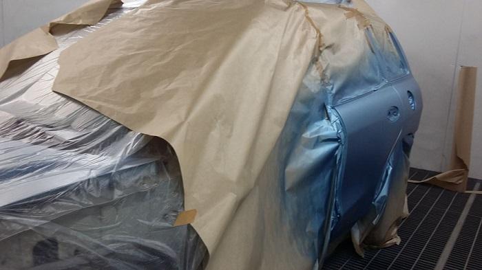 Покраска кузова автомобиля Хендай Санта Фе